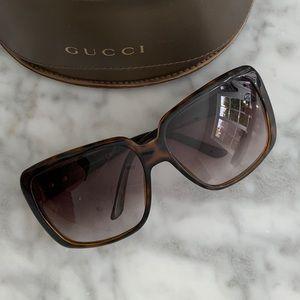 Gucci Oversized Tortoise Sunglasses